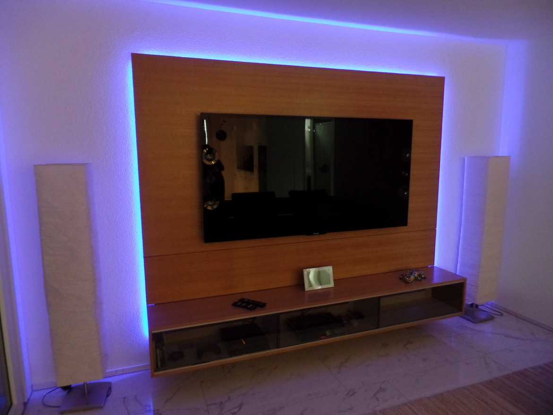 h ngendes fernsehm bel mit wand funk innenausbau ag. Black Bedroom Furniture Sets. Home Design Ideas